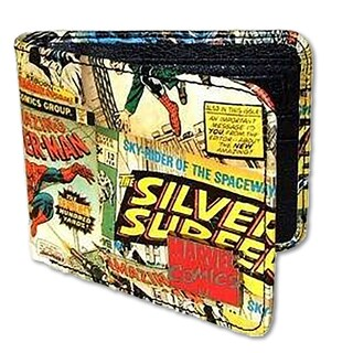 Marvel Comic Retro Wallet with Outside Print