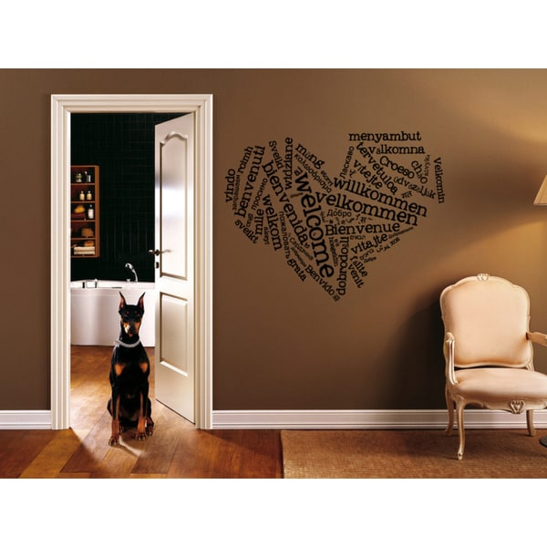 Welcome All vernacular Wall Art Sticker Decal