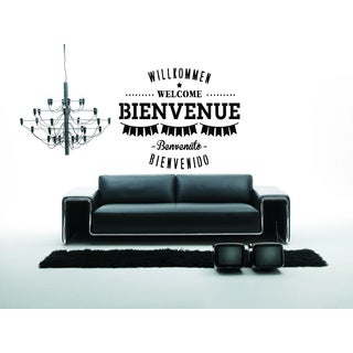 Welcome Bienvenue quote Wall Art Sticker Decal