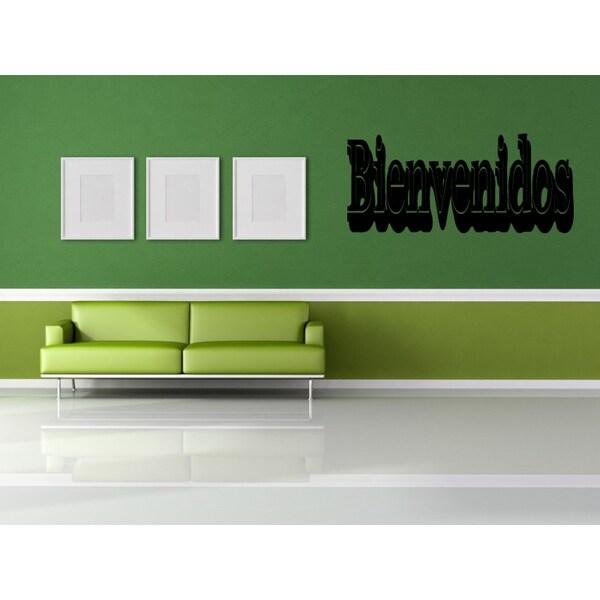 bienvenidos graffiti wall art sticker decal - free shipping on
