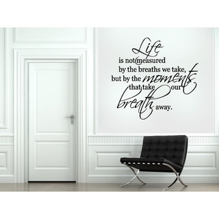 Life is Measured by Moments Wall Art Sticker Decal