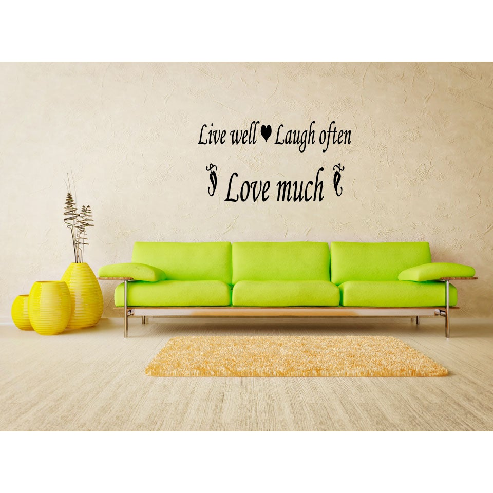 Live Well - Laugh Often - Love Much quote Wall Art Sticker Decal | eBay