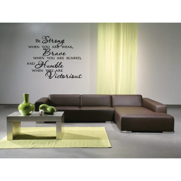 Shop Be Strong quote Wall Art Sticker Decal - Free Shipping On ...