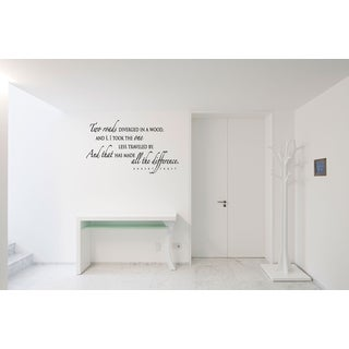The Road Less Traveled Wall Art Sticker Decal