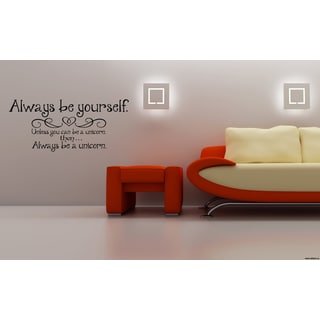 Be yourself A heart Wall Art Sticker Decal