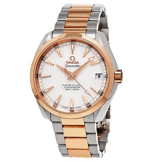 Omega Men's 231.20.42.21.02.001 'AquaTerra' Silver Dial Two Tone Swiss Automatic Watch