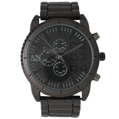 Olivia Pratt Men's Metal AN London Decorative Chronograph Watch