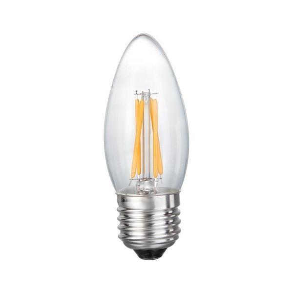 shop goodlite filament torpedo led dimmable 5 watt candelabra 60 watt medium e26 base warm. Black Bedroom Furniture Sets. Home Design Ideas