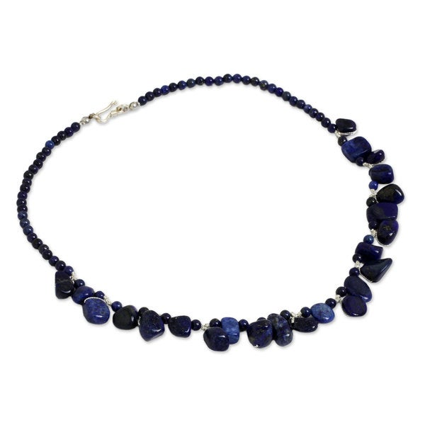 Blue Lapis Lazuli Necklace 12mm Lapis Beads Hand Knotted Various Lengths 12 mm
