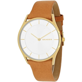 Skagen Women's SKW2344 Holst Round Light Brown Leather Strap Watch