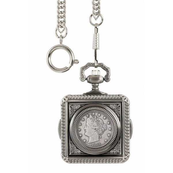 American Coin Treasures 1883 First-Year-of-Issue Liberty Nickel Pocket Watch - Silver