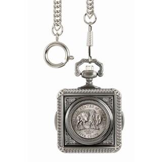 American Coin Treasures Westward Journey Bison Nickel Pocket Watch - Silver