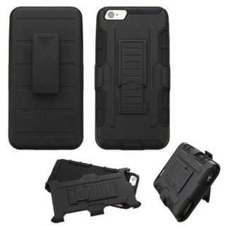 Insten Car Armor Hard PC/ Silicone Dual Layer Hybrid Case Cover with Holster for Apple iPhone 6/ 6s