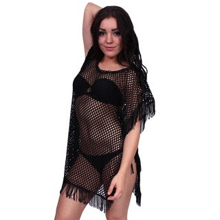 Women's Cover Up Beach Dress Tassel Fringe Swimwear Pareo Bikini Sexy