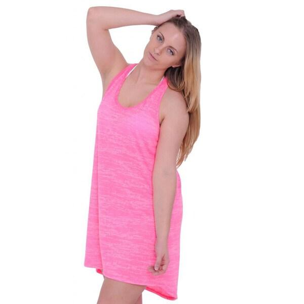 1155faf6e843f Shop Women's Beach Dress Cover Up Burnout Tank Beach Dress Swimwear ...