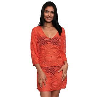 Women's Beach Dress Cover Up Crochet Long Sleeve Swimwear Sexy Bikini Swimsuit