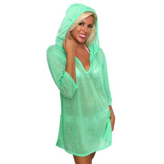 Women's Beach Dress Cover Up V-Neck Hoodie Swimwear Pullover Juniors (More options available)