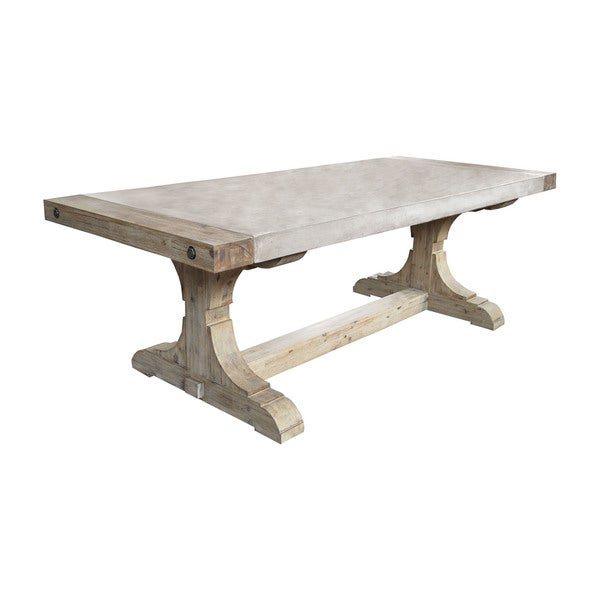 Dimond Home Pirate Concrete And Wood Console Table With Waxed Atlantic  Finish