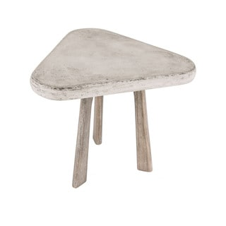Dimond Home Candy Side Table In Polished Concrete
