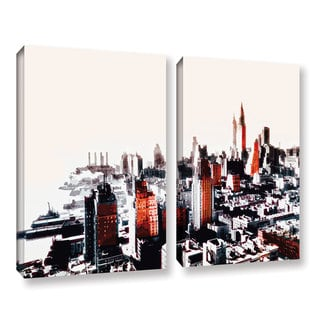 ArtWall Niel Hemsley's 'New York' 2-piece Gallery Wrapped Canvas Set