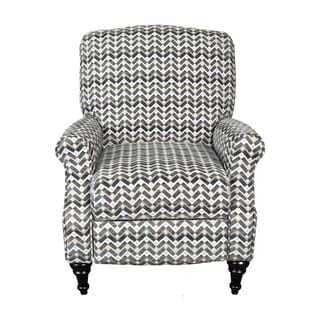 Porter Noelle Contemporary Zigzag Woven Fabric Pushback Reclining Chair