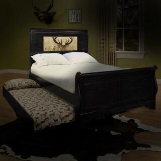 LightHeaded Edgewood Black Full Bedframe with Trundle