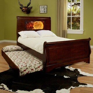 LightHeaded Edgewood Cherry Finish Full Bedframe with Trundle