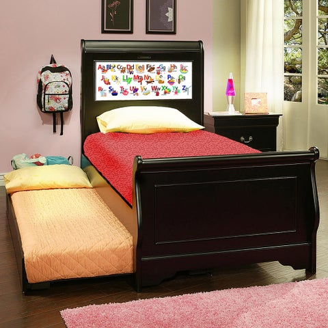 LightHeaded Edgewood Black Twin Bedframe with Trundle
