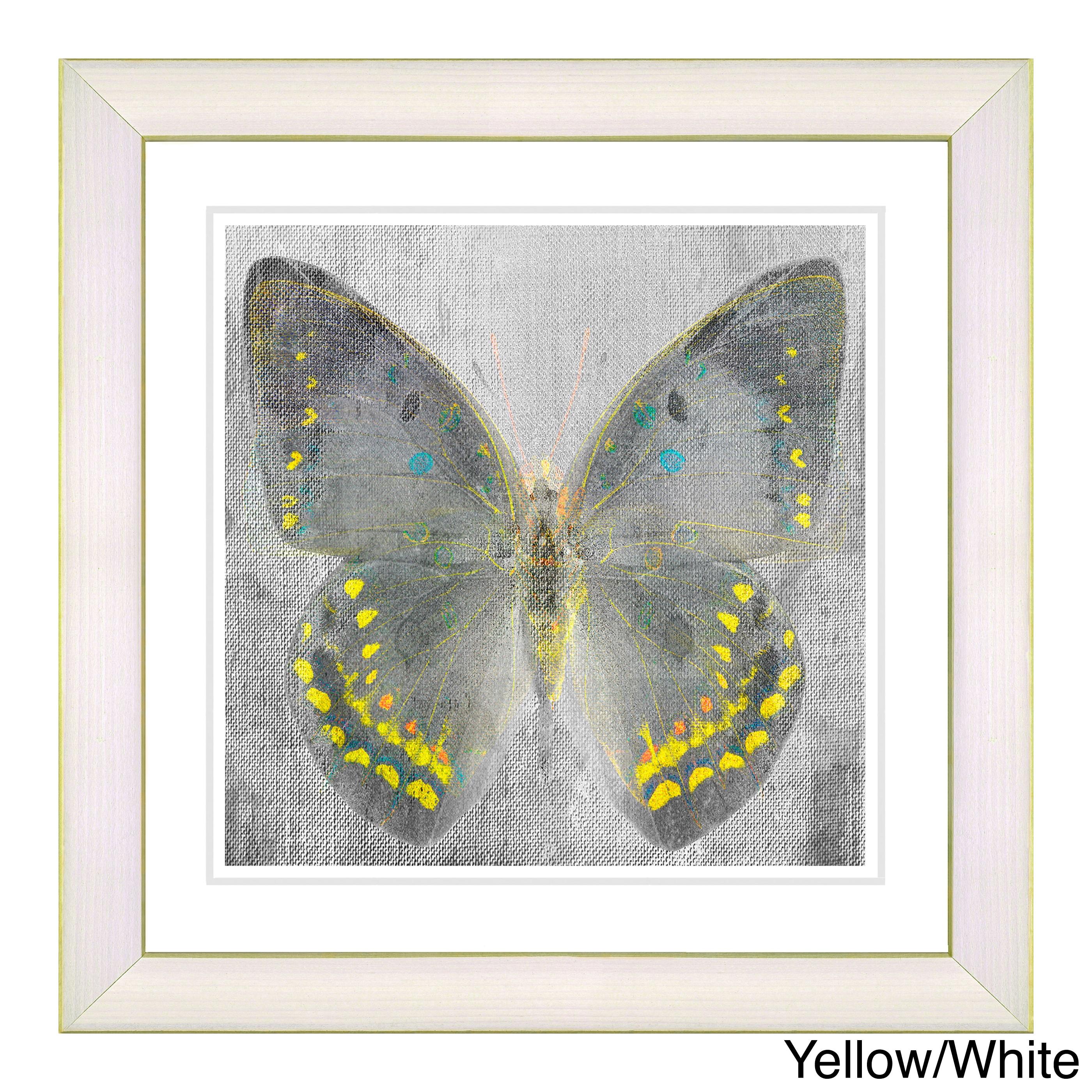 Studio Works Modern \'Dusk Butterfly\' Wall Art Framed Fine Art Print ...