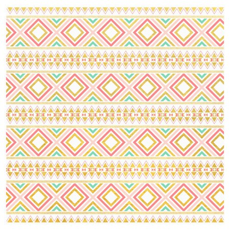 , Aztec, and Tribal Inspired 1 Vinyl Sheet with Adhesive