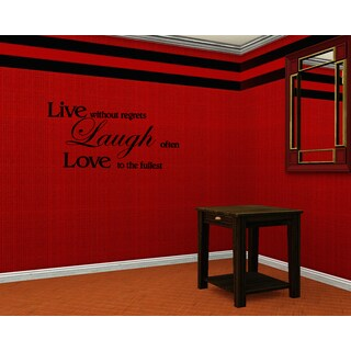 Beautiful quote Live Laugh Love Wall Art Sticker Decal
