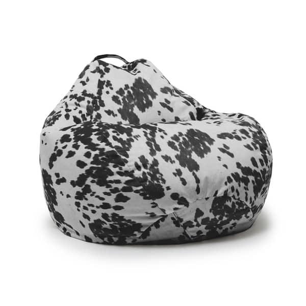 Excellent Shop Beansack Big Joe Cow Print Teardrop Bean Bag Chair Inzonedesignstudio Interior Chair Design Inzonedesignstudiocom