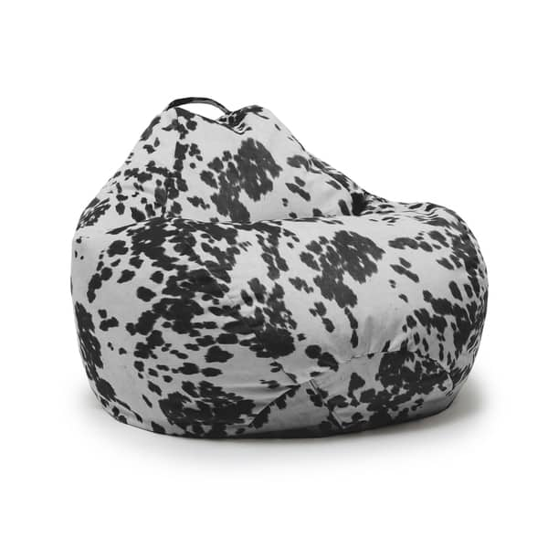 Sensational Shop Beansack Big Joe Cow Print Teardrop Bean Bag Chair Ibusinesslaw Wood Chair Design Ideas Ibusinesslaworg