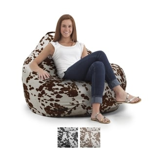 BeanSack Big Joe Cow Print Teardrop Bean Bag Chair