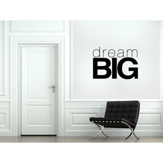 Inscription Big dream Wall Art Sticker Decal