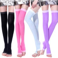 Slimming Open Toe Over-the-Knee Fashion Compression Hosiery