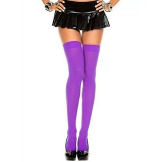 Over The Knee Sexy Cotton Socks (Option: Purple)
