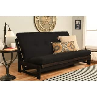 Somette Aspen Reclaimed Mocha Futon Frame with Black Twill Mattress|https://ak1.ostkcdn.com/images/products/11526352/P18474497.jpg?impolicy=medium