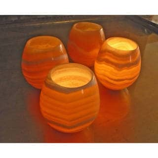 Link to Handmade Amon II Alabaster 4-piece Votive Set (Egypt) - Natural Similar Items in Decorative Accessories