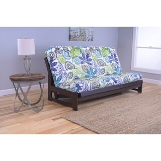 Somette Aspen Mocha Futon Frame with Bright Patterned Futon Mattress (3 options available)