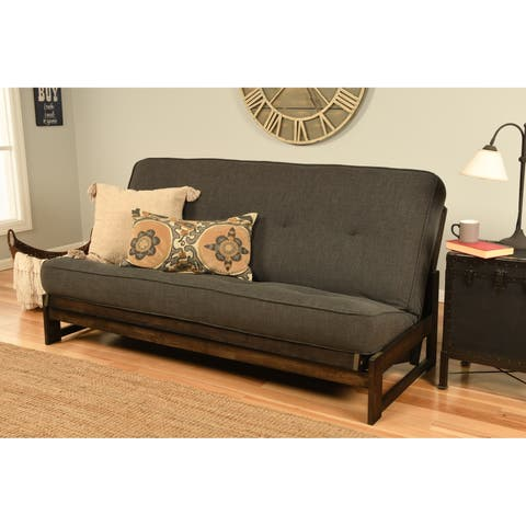 Copper Grove Uncompahgre Rustic Mocha Futon Frame with Mattress