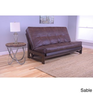 Somette Aspen Mocha Futon Frame with Mattress (2 options available)