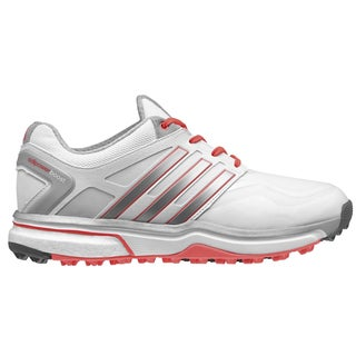 Adidas Adipower Sport Boost Golf Shoes Ladies CLOSEOUT Grey/White/Red Orange