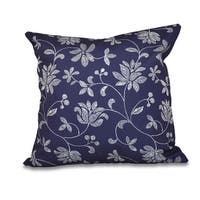 Traditional Floral Print 16-inch Throw Pillow