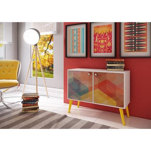 Avesta 3-shelf Side Table Manhattan Comfort