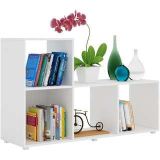 Accentuations by Manhattan Comfort Sleek Lagarto L-Cubbies with 4 Open Shelves