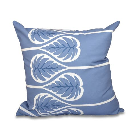 Fern 1 Floral Print 18-inch Throw Pillow