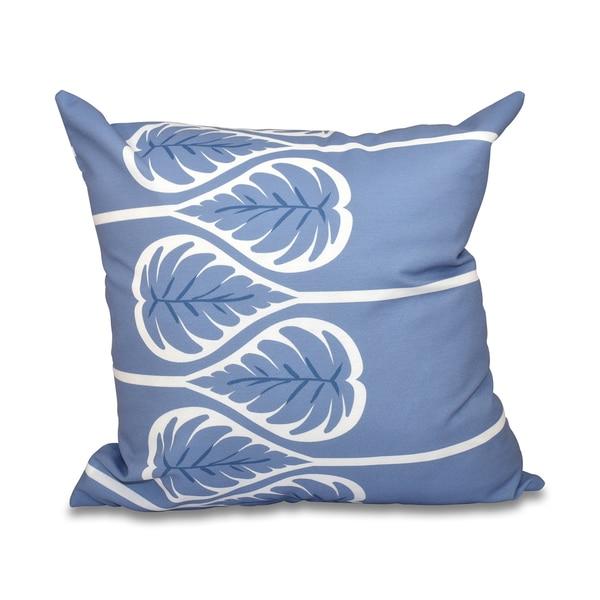 Fern 1 Floral Print 18-inch Throw Pillow