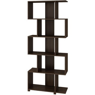 Accentuations by Manhattan Comfort Charming Petrolina 5-shelf Z-Shelf