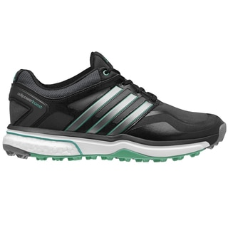 Adidas Adipower Sport Boost Golf Shoes Ladies CLOSEOUT Black/Silver/Green